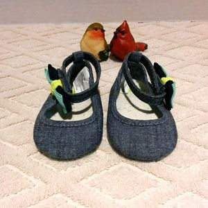 Gymboree chambray shoe with ankle strap